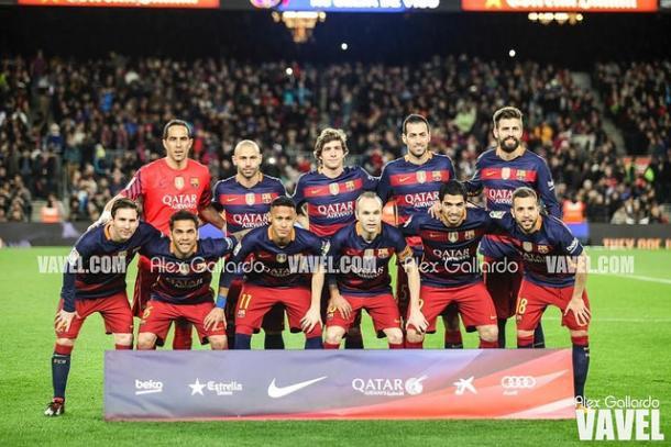 Equipo del FC Barcelona que consiguió la Copa del Rey, la temporada pasada. Fuente: Álex Gallardo (VAVEL)