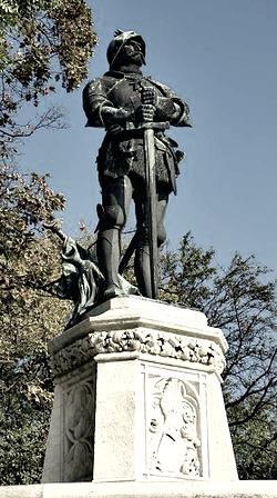 Estatua de Janos Huyandi en Budapest, Foto de autor