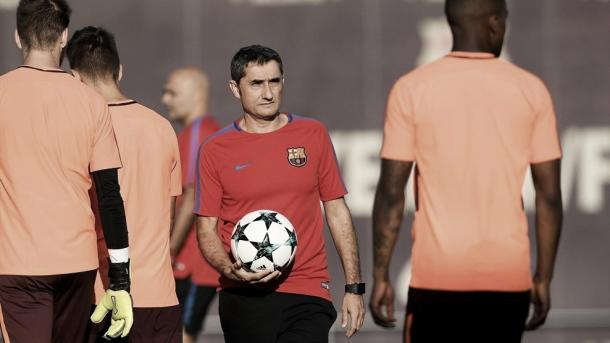 Valverde no último treinamento da equipe antes da partida | Foto: Divulgação/Uefa