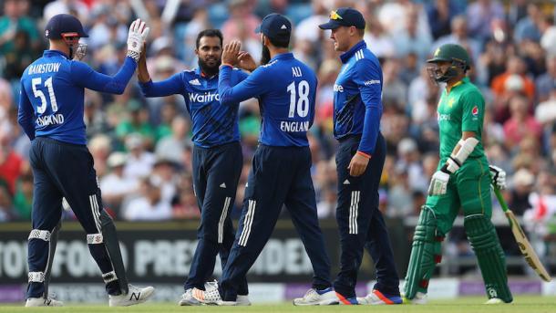 Rashid celebrates getting the wicket of Azhar Ali | Photo: Getty