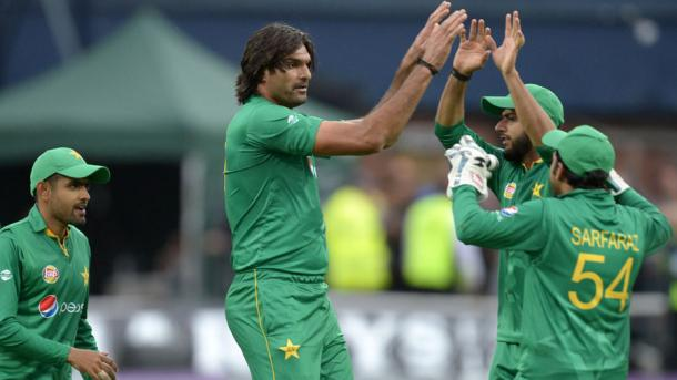 Irfan celebrates getting two early wickets for the visitors | Photo: Getty