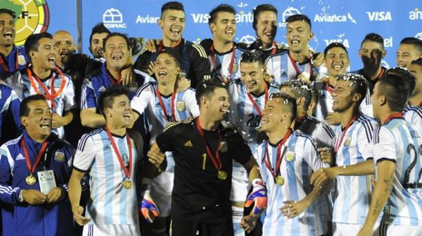 Argentina celebrates winning their South American Football Championships. Getty Images