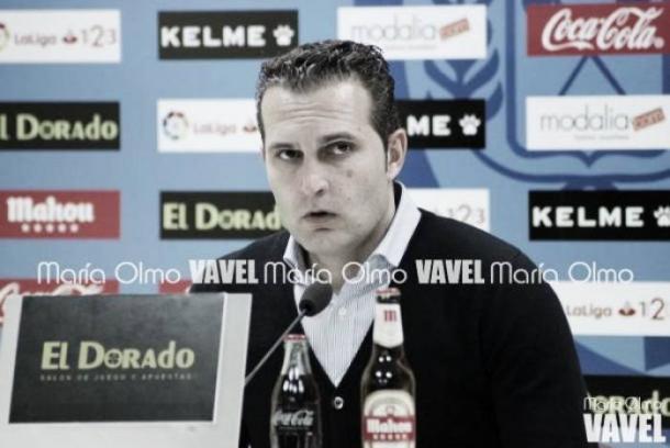 Rubén Baraja durante una rueda de prensa | Fotografía: María Olmo