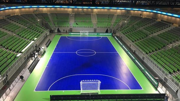 Imagen del Arena Stozice de Ljubljana con la pista nueva | Foto: UEFA
