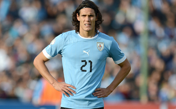 Edinson Cavani will need to carry Uruguay in the goal department with Luis Suarez out of action for the first round with a hamstring injury. (Photo provided by Getty Images)