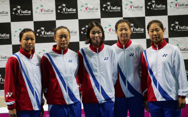 The Chinese Taipei team | Photo: Fed Cup/Andrei Golovanov