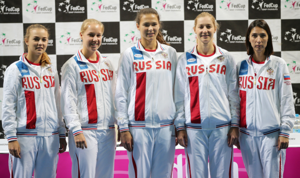 The Russian Fed Cup team | Photo: Fed Cup/Andrei Golovanov