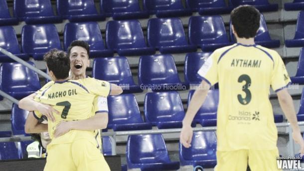 Iván Gonfaus celebra el que significaba el 1-2 en el marcador | Foto: Ernesto Aradilla - Vavel