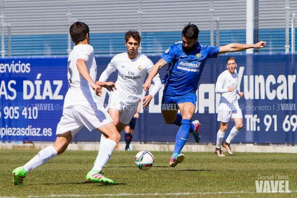 Matas anota el gol de la victoria fuenlabreña | Foto: Vavel.com