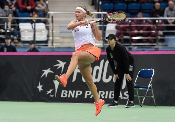 Michaella Krajicek missed her chances | Photo: Daniel Kopatsch/Fed Cup