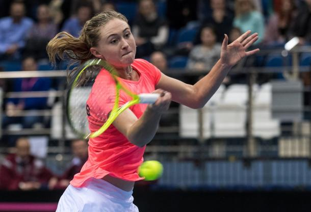 Sasnovich played a huge role in this win | Photo: Daniel Kopatsch/Fed Cup