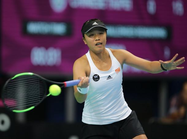 Lee Ya-hsuan was outclassed on the second day of play | Photo: Fed Cup/Andrei Golovanov