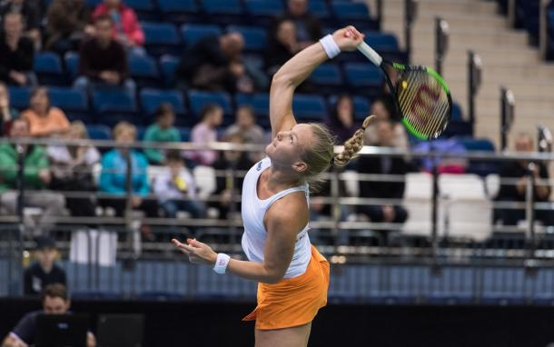 Kiki Bertens failed to play her best tennis this weekend | Photo: Daniel Kopatsch/Fed Cup