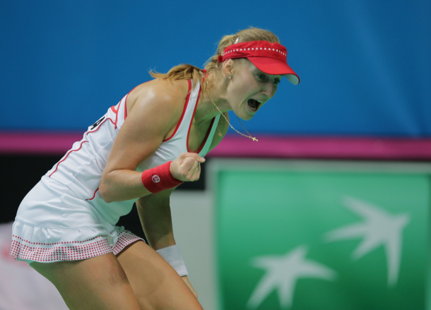 Ekaterina Makarova is the hero of the weekend | Photo: Fed Cup/Andrei Golovanov
