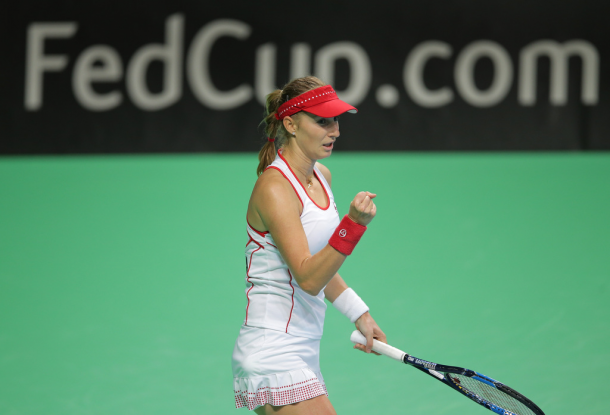 Ekaterina Makarova would have a weekend to remember | Photo: Fed Cup/Andrei Golovanov
