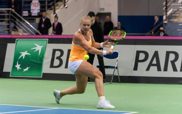 Kiki Bertens last played Fed Cup in 2017, and she will be opening play on the first day of action | Photo: Daniel Kopatsch