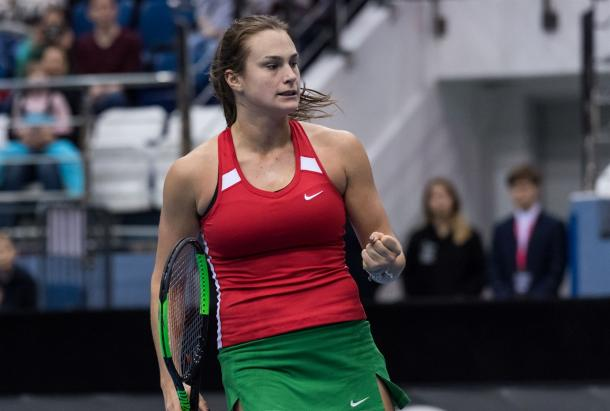 Sabalenka will be the top-ranked Belarusian in this tie, having made a name for herself during Fed Cup back in 2017 | Photo: Daniel Kopatsch