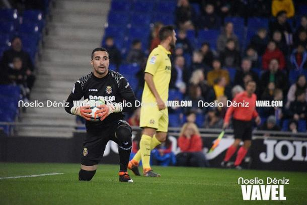 Sergio Asenjo en un duelo liguero con su equipo, donde no recibió goles I Foto: Noelia Déniz (VAVEL)