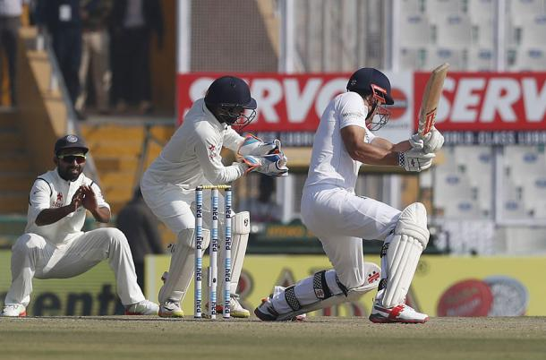 Cook's wasteful cut was a rare loss of concentration from the captain | Photo: cricinfo