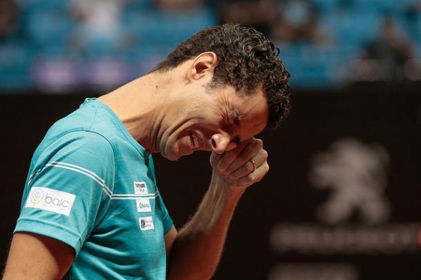 Sá chora em discurso de despedida (Foto: Marcello Zambrana/DGW Comunicação)