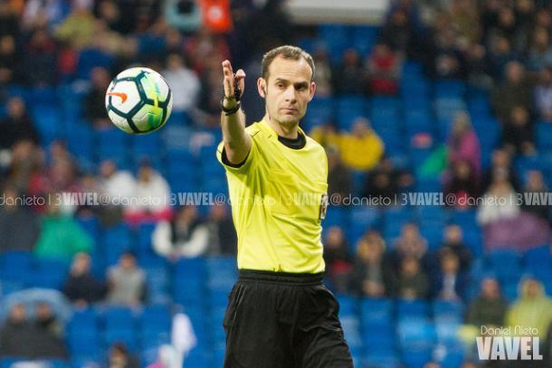 Melero López durante el Real Madrid 3-1 Getafe. / Foto: Daniel Nieto (VAVEL.com).