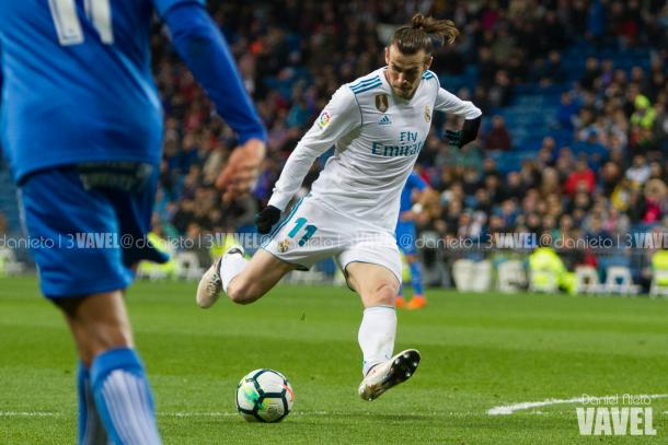 Gareth Bale en el primer gol del Real Madrid // Fuente: Dani Nieto (VAVEL)