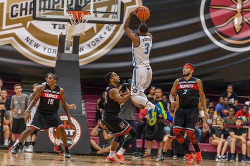 McCollum takes a shot in the 2015 TBT Championship versus Team 23. | Photo: The Basketball Tournament