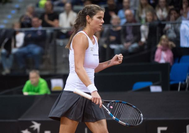 Julia Goerges put in an excellent performance today | Photo: Paul Zimmer