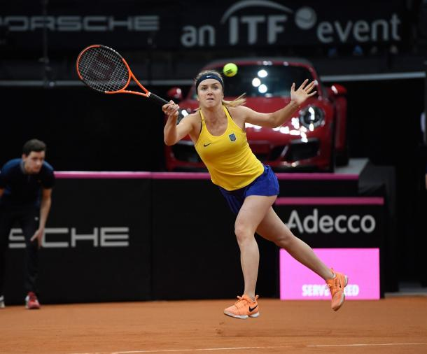 Elina Svitolina would be disappointed not to be able to get a point for Ukraine today | Photo: Paul Zimmer / Fed Cup