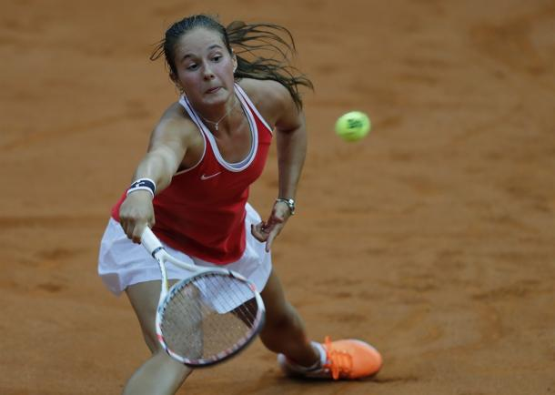 Daria Kasatkina in action during Fed Cup play | Photo: Fed Cup