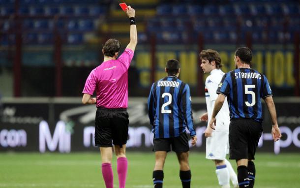 L'espulsione di Cordoba e Inter in 9.   Fonte: sport.sky.it