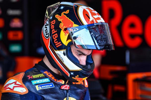 Dani Pedrosa, probando la KTM durante los test de Misano de este año. Imagen: MotoGP