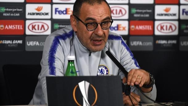 Maurizio Sarri, entrenador del Chelsea. FOTO: UEFA.com