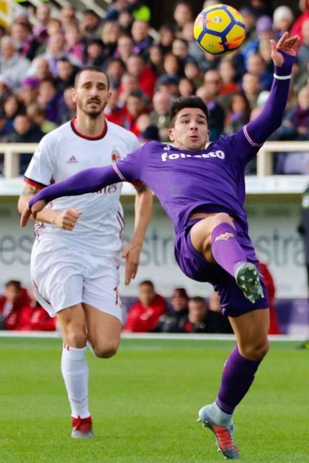 Gio Simeone estuvo a punto de hacer el primer gol / Foto: Fiorentina