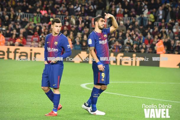 Coutinho y Luis Suárez | Foto: Noelia Déniz - VAVEL