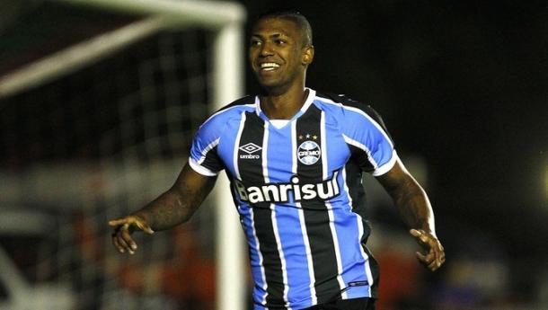 Primeiro gol como profissional defendendo o Grêmio foi no Gauchão, contra Passo Fundo (Lucas Uebel/Divulgação Grêmio)