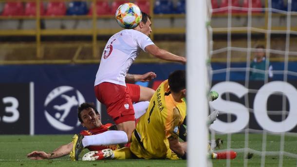 Momento del tanto del realista a Polonia / Foto: UEFA