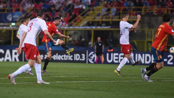 Fabián Ruiz sacaba la caña hasta en tres ocasiones para marcar / Foto: UEFA