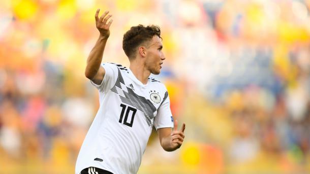 Ojo con el diez de Alemania, el bigoleador ante Rumanía en semis, Waldschmidt / Foto: UEFA