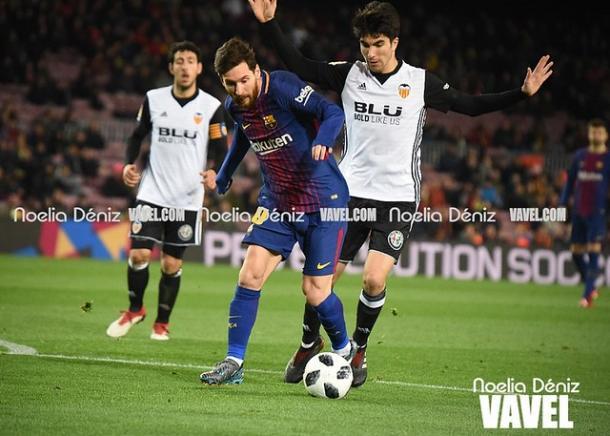 Barcelona y Valencia se enfrentaron en la última edición de Copa del Rey | Foto: Noelia Déniz (VAVEL)