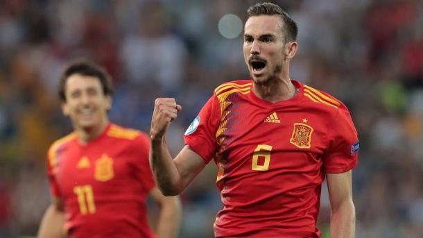 Fabián Ruiz festeja su golazo / Foto: UEFA