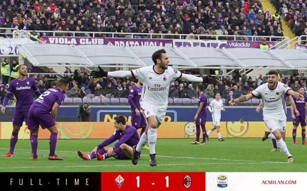 Calhanoglu fue el autor del empate / Foto: Milan