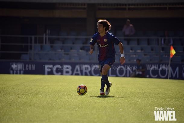 Marc Cucurella en el Miniestadi con el FC Barcelona B | Foto: Noelia Déniz, VAVEL