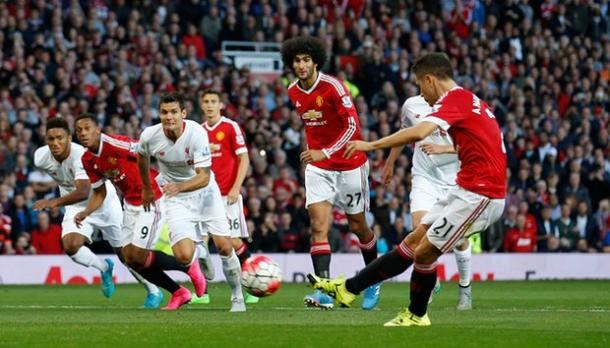 Herrera scored United's second goal back in September at Old Trafford when United won 3-1 | Photo: Getty Images
