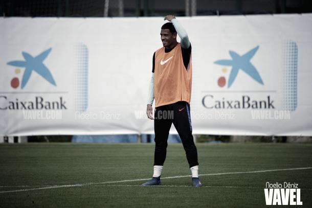 McGuane en el entrenamiento del filial azulgrana | Foto de Noelia Déniz, VAVEL
