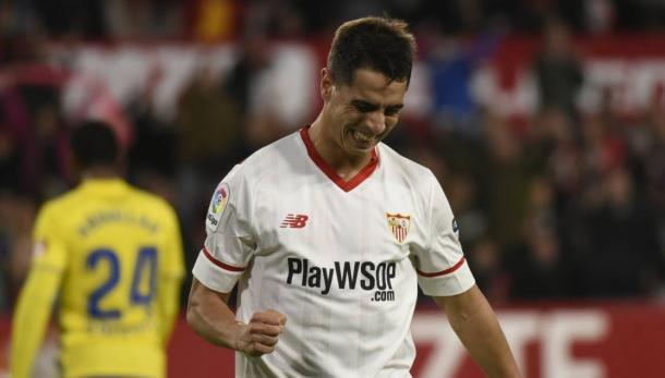 Ben Yedder se lamenta de una ocasión fallada // Fuente: Sevilla FC