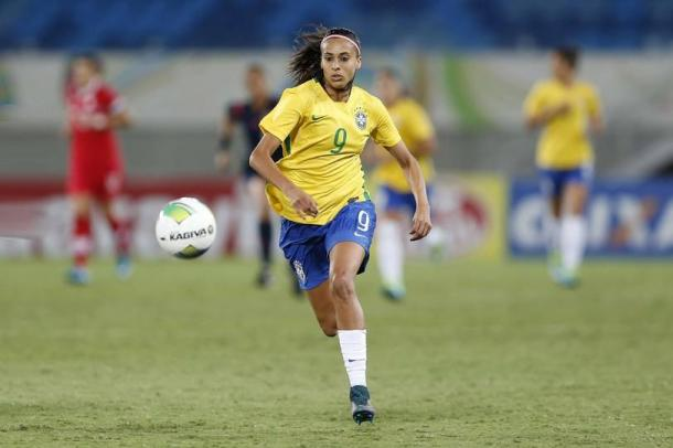 Andressa Alves playing for Brazil | Photo: FC Barcelona