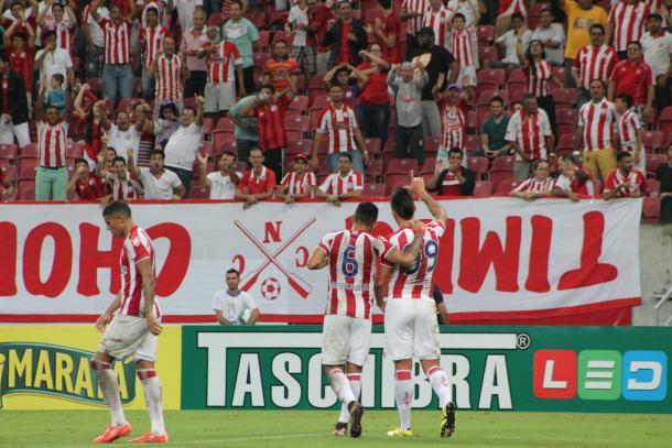 Centroavante marcou apenas um gol com a camisa do Timbu em 12 jogos (Foto: Léo Lemos/Náutico)