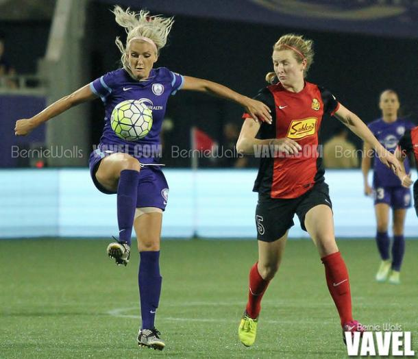 Kaylyn Kyle (left) was not added to the subsidized list for the upcoming NWSL season | Source: Bernie Walls - VAVEL USA