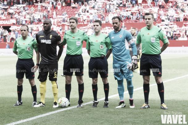 Undiano Mallenco arbitró el Sevilla 1-4 Granada de la pasada campaña | Foto: VAVEL